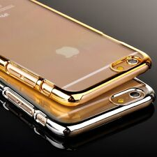 NEW Luxury Plating Metal Bumper Clear Back Case Cover for iPhone6/6 Plus/5/5s