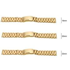 18mm 20mm 22mm Stainless Steel Watch Strap Band +Link Pins +Spring Bar Tool 3GM7