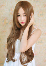 New Fashion Sexy Women Long Wave Curly Heat Resistant Hair Wig Cosplay+Hair Cap
