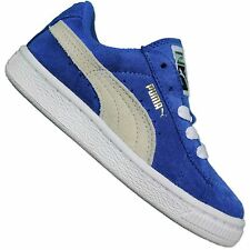 PUMA ORIGINALS SUEDE KIDS BABY KIDS SHOES LEATHER TRAINERS BLUE WHITE 20-32