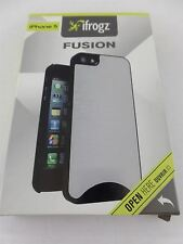 iFrogz Fusion Aluminum Zagg Case For Apple iPhone 5 and 5s Black IP5FS-MTBK