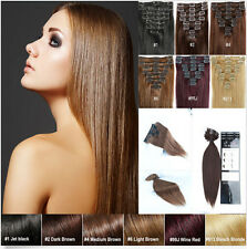 """15"""" 18"""" 20"""" Clip in Extensions Full Head 100% Remy Real Human Hair Premium  7PCS"""