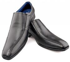 Mens Gents New Black Leather Smart Suit Stitched Slip-on Shoes 6 7 8 9 10 11 12