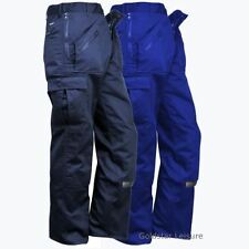 Workwear Action Trousers Knee Pads Pockets Multiple Zip Pockets Pants Workwear