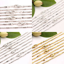 Lots 2/10Pcs 43cm Gold/Silver/White K Beads Chain Clasp Jewelry Making Necklace