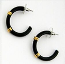 Enamel Half Hoop Designer Inspired  Earrings