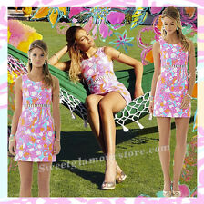 $198 Lilly Pulitzer Iggy Shorely Blue Feeling Tanked Cut Out Shift Pique Dress