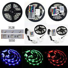 3528 5050 SMD 300LED RGB Flexible Strip Light Waterproof IR44 IR24 Remote Power
