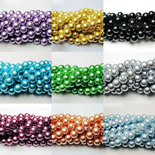 100Pcs Top Quality Charms Czech Glass Pearl Round Loose Spacer Beads 4/6/8/10MM