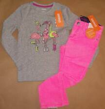 Gymboree Fairy Tale Forest Pink Cord Skinny Pant w/ Flamingo Tee 5 NWT