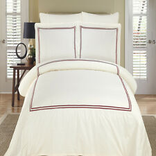 Maya Embroidered Cotton Duvet Cover Set Lightweight and Breathable Fabric