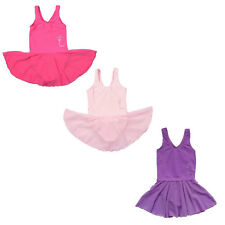 Girls Kids Gymnastics Dancing Dress 2-14Y Ballet Tutus Chiffon Leotards Clothing