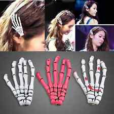 Halloween Zombie Skull Skeleton Hand Bone Claw Hairpins Hair Clips Accessories