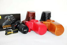 PU Leather Hard Camera Case Bag Cover for Nikon D5500 and 18-105mm 18-135mm Lens