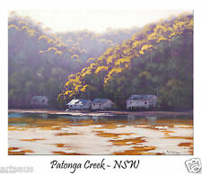 Patonga Creek nsw Impressionist River Painting Collectable Art by Listed Artist