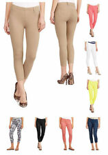 Faded Glory Womens Soft Knit Color Capri Length Jeggings Pants Belt Loops Pocket