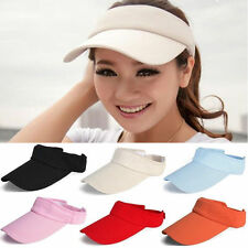 Fashion Women Men Plain Golf Tennis Sports Wide Brim Beach Visor Sun Hat Cap