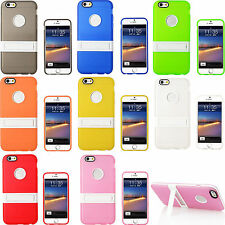 Slim Clear TPU Shockproof Matte kickstand Stand Case Cover Skin For Apple iPhone
