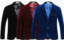 Luxury Mens Casual Slim Fit One Button Suit Office Button Blazer Jacket Coat Top