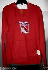 NEW YORK RANGERS NHL HOODED PULLOVER DISTRESSED LOOK SWEATSHIRT W/HANDPOUCH NWT