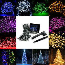 Solar Power 60/100/200 LED Light Home Outdoor Xmas Party String Fairy Waterproof