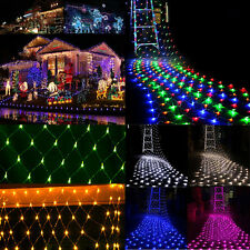 96/200/880 LED Mesh Net String Fairy Lights Twinkle Christmas Xmas Party Wedding