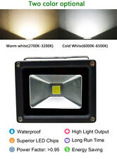 110V 12V AC/DC LED Flood Light Lamp 10W White Warm Floodlight Black-Case LW1