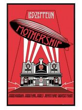 New Gloss Black Framed Led Zeppelin The Mothership Poster