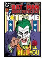 Batman Joker Gloss Black Framed Vote For Me...Or I'll Kill You Poster 61x91.5cm