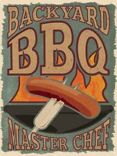 Backyard BBQ Master Chef Tin Sign 30.5x40.7cm