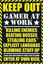 New Keep Out - Gamer at Work Gaming Keep Out Leave Food At The Door Poster