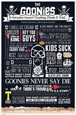 The Goonies Typographic Poster 61x91.5cm
