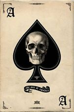 New Ace of Spades Gothic Playing Card Poster