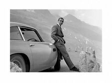 New Bond and his Aston Sean Connery is 007 Print