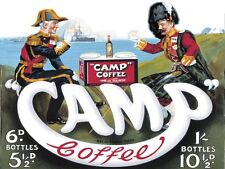 New The Original Scottish Syrup Blend Camp Coffee Metal Tin Sign