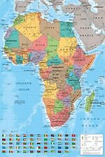 New Map Of Africa Colourful Continent Poster
