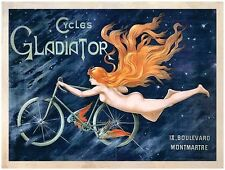 New Travel Freedom Cycles Gladiator Metal Tin Sign