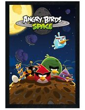 Angry Birds Black Wooden Framed Space Maxi Poster 61x91.5cm