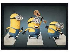 Despicable Me Black Wooden Framed Minions Abbey Road Maxi Poster 91.5x61cm