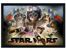 Star Wars The Phantom Menace Black Wooden Framed Pod Race Poster 91.5x61cm