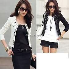 Women Coat Outwear Suit OL Blazer Long Sleeve Rivet Lady Short Jacket Blazer