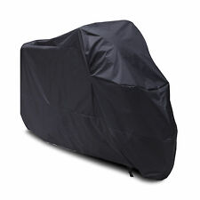 Large XL XXL Motorcycle Waterproof Outdoor Motorbike Bike Cover Black