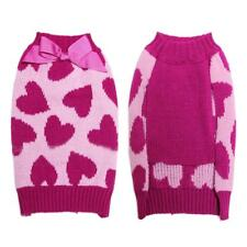 Pet Dog Puppy Heart Pattern Turtleneck Sweater Coat Clothes Apparel Size XS-L