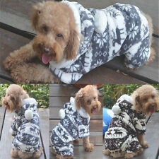 Pet Dog Puppy Cute Winter Warm Cozy Sweater Hoodie Jumpsuit Coat Clothes Apparel