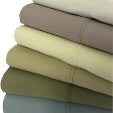 Full Percale Weave Solid 300 TC Bed Sheet Set 100% Cotton Set