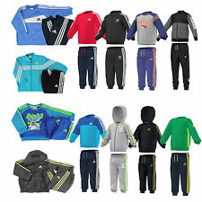 adidas Baby Jogger boys tracksuit children's track suit jacket pants Set