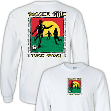 Soccer Style T-Shirt Jersey Long Sleeve or Short Sleeve New Youth & Adult Sizes