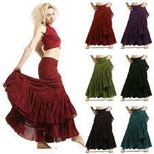 SPANISH GYPSY FLAMENCO SKIRT festival boho long wrap hippy One size