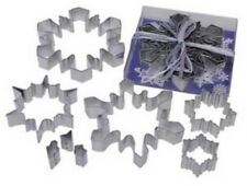 8 Piece Snowflake Cookie Cutter Set NEW!  SNOWFLAKES!