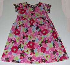 EUC Hanna Andersson girls 100% cotton pink floral party dress sz 7 euro 120